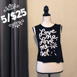 "🌟 Decree ""Love Me, Love Me Not"" Tank Top"
